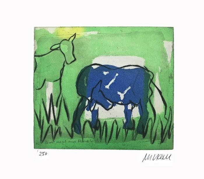 Die Blaue Kuh (im Grünen)
