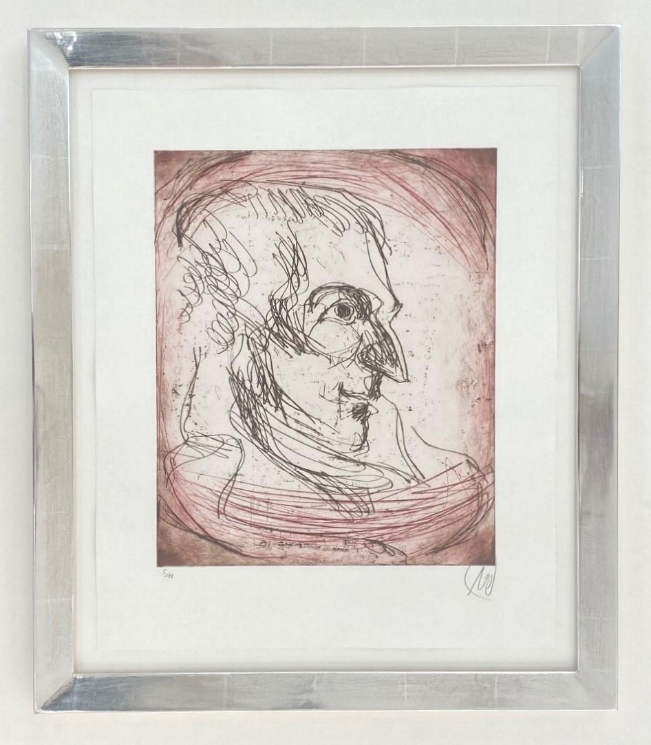 Friedrich Schiller - Variante rot - gerahmt