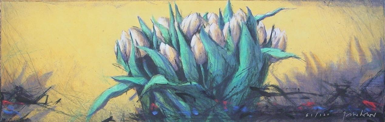 Tulpen auf Gelb