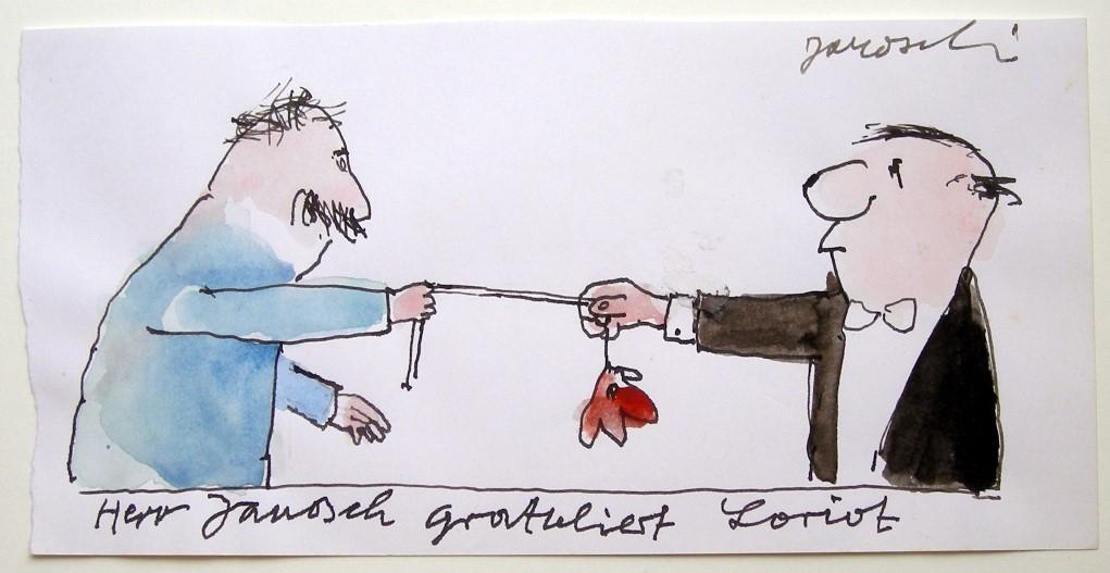 Herr Janosch gratuliert Loriot