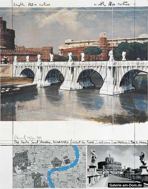 Wrapped Ponte St Angelo 1989 Projekt für Rom