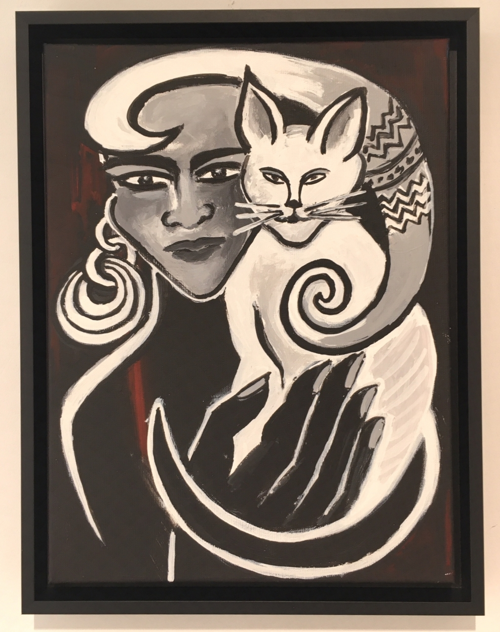 o.T. (15) - mit Katze sw