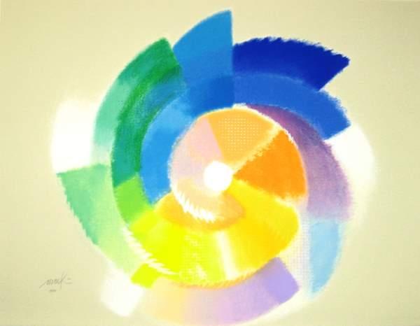 Pastellfarbene Rotation