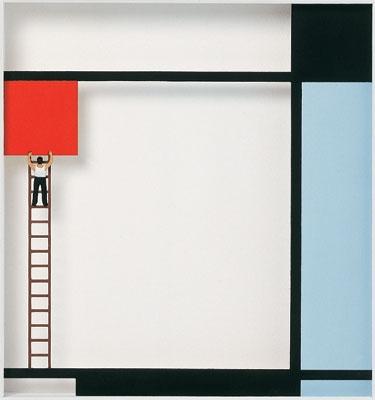 Homage to Piet Mondrian - Mondrian bei der Arbeit