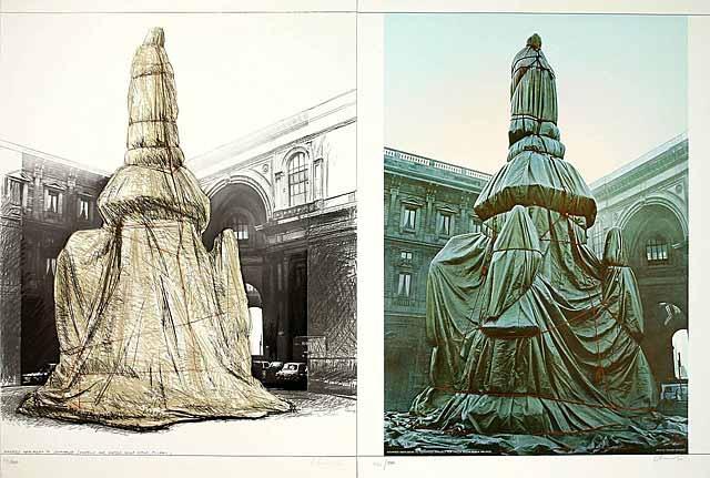Wrapped Monument Leonardo 2 Blatt