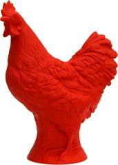 Huhn - rot, signiert