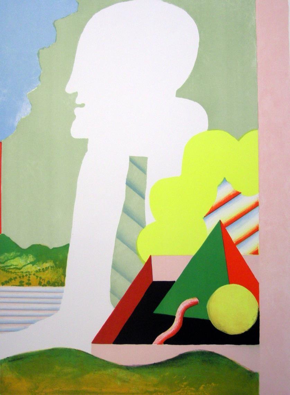 Figur mit Landschaft