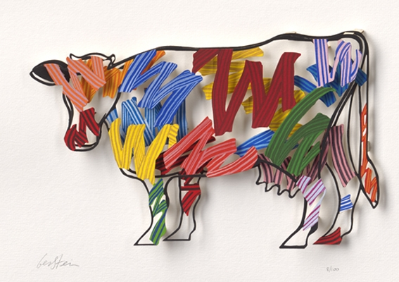 Brushstrokes Cow (PAPER)