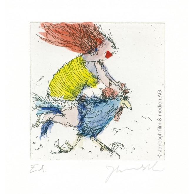 Der Hahn ist mein Mann und ich heiße Luise