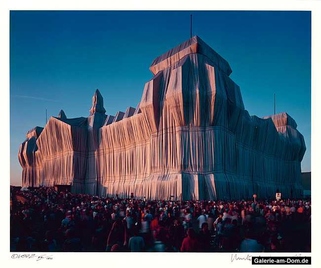 Verhüllter Reichstag Mappe I, 20 Uhr 1995