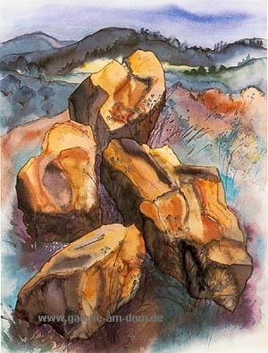 Steine in der Landschaft
