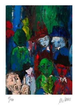 Straßenszene (nach Ernst Ludwig Kirchner)