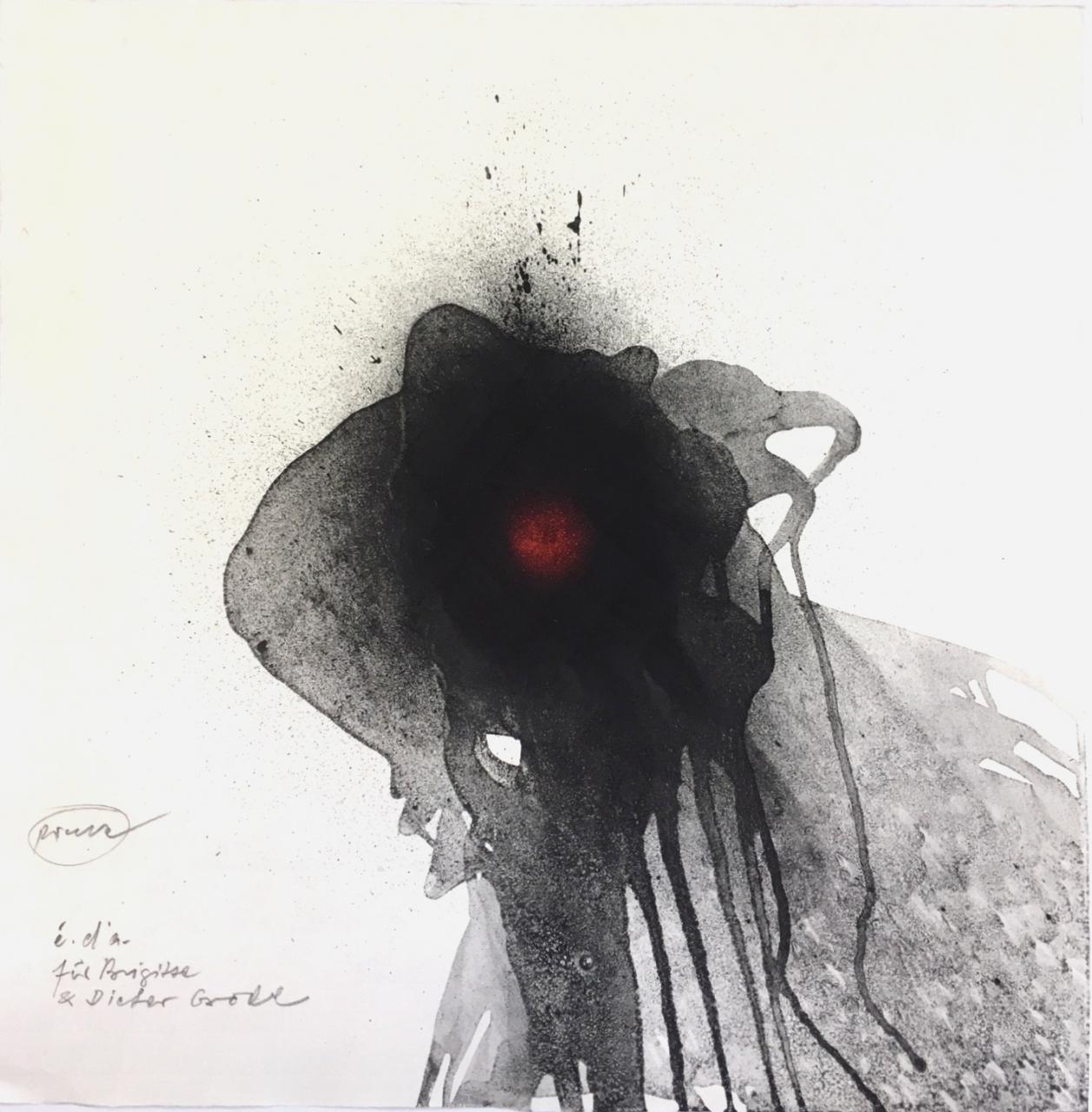o.T. Komposition in schwarz und rot