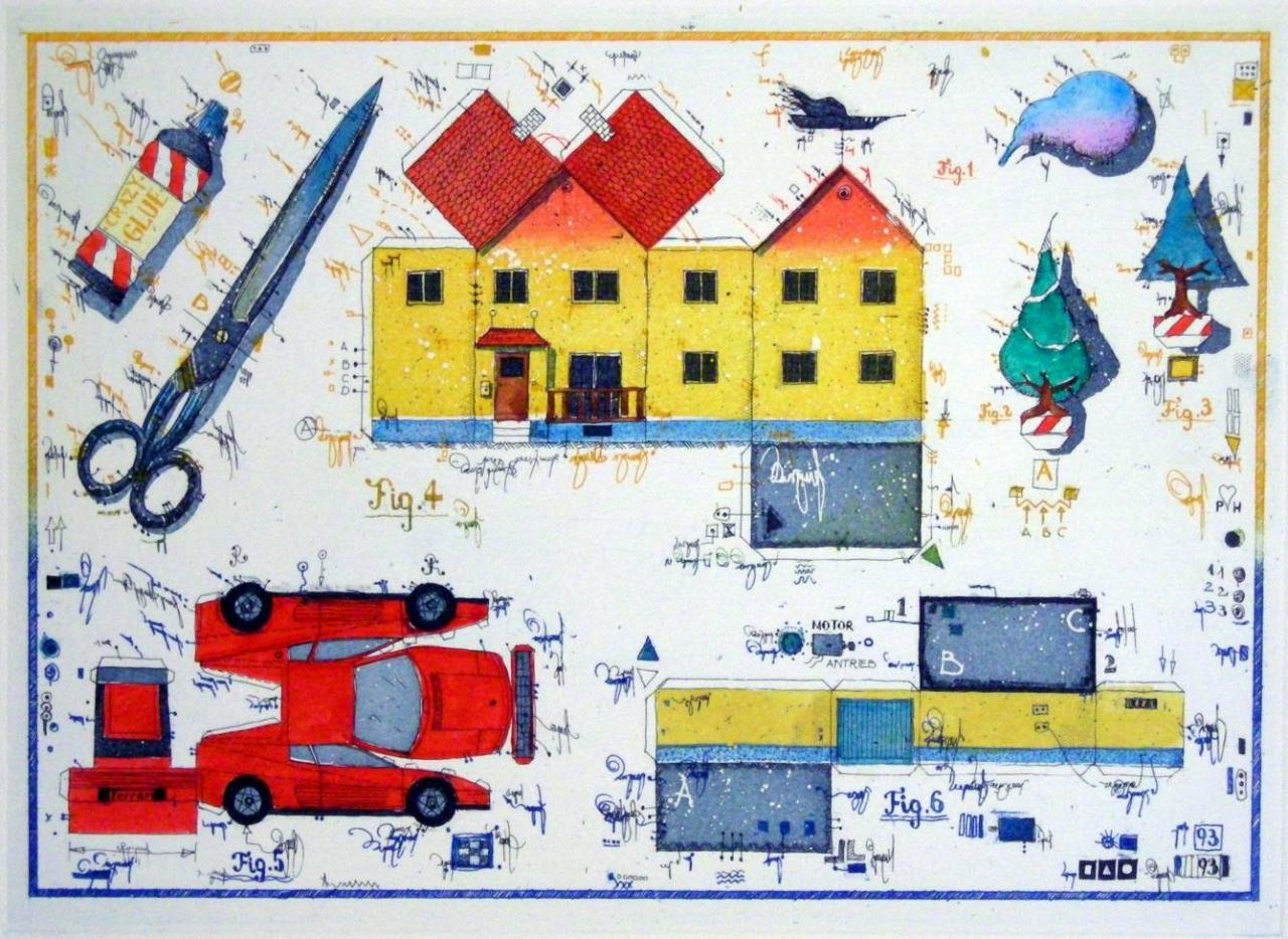 Bastelbogen für Architekten
