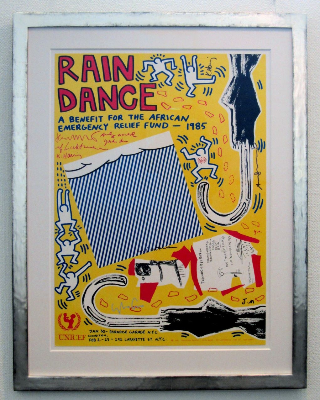 Haring, Warhol, Ono,Lichtenstein, Basquiat: Rain Dance