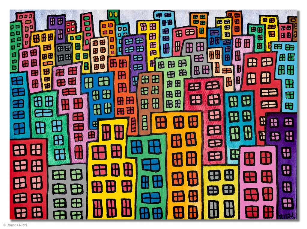 It's my candy colored town