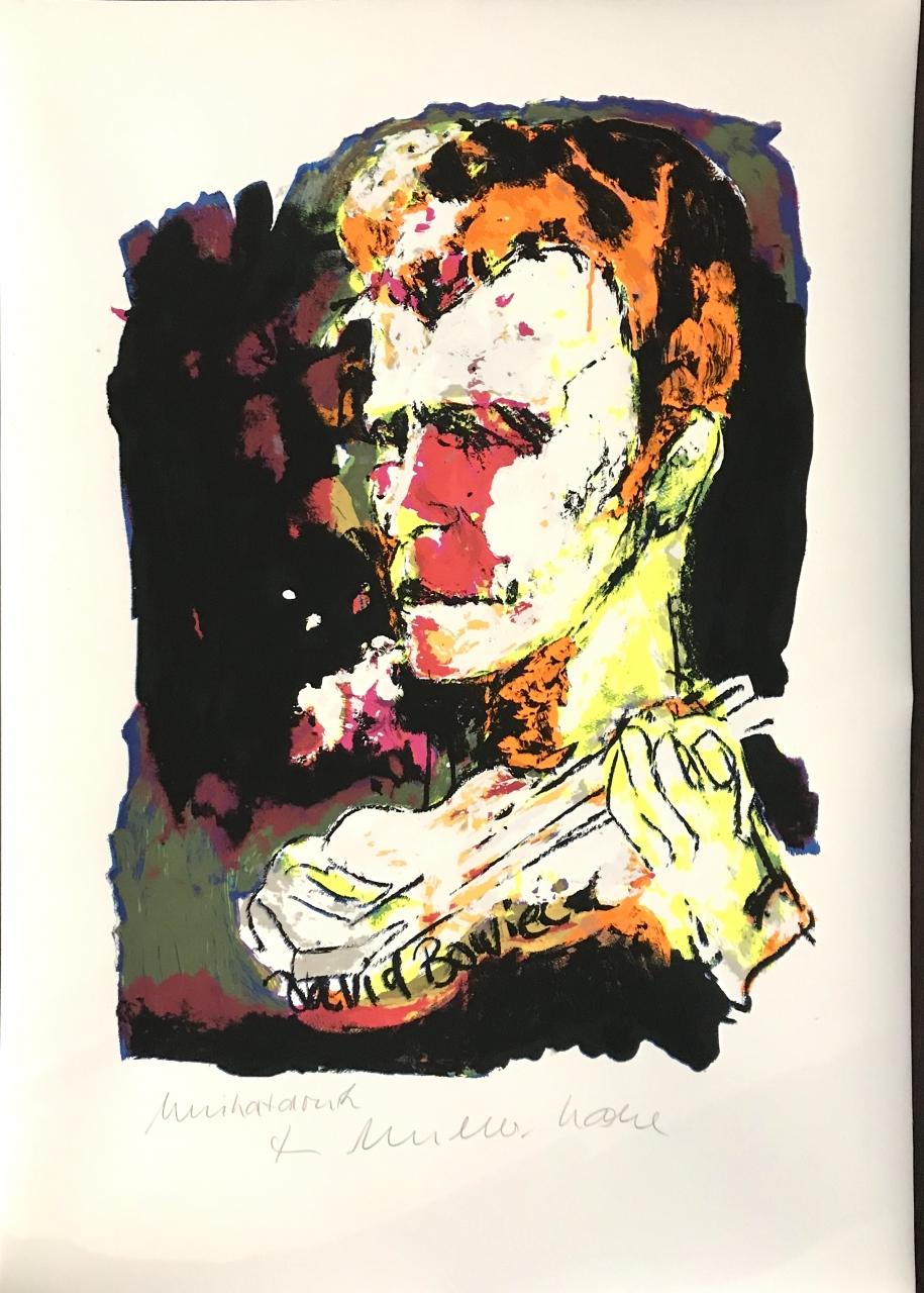 David Bowie - Unikatdruck - Variante Neonorange, Neongelb, Mgenta, Oliv