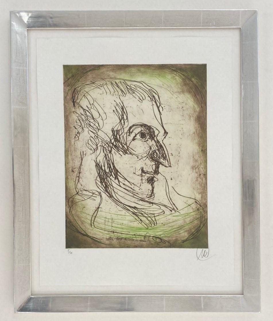 Friedrich Schiller - Variante grün - gerahmt