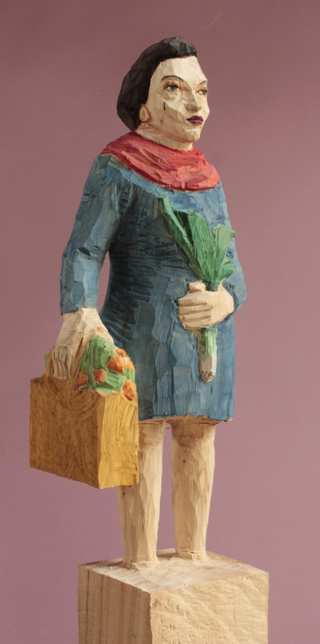 Edeka Frau (921) mit Porreestange