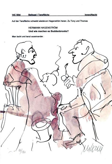 Geschäfte- Hermann Hagenström und Jean Buddenbrook