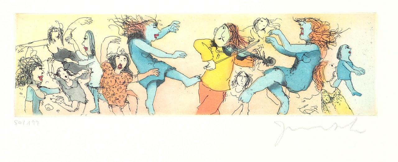 Spielt Waloszek auf der Geige