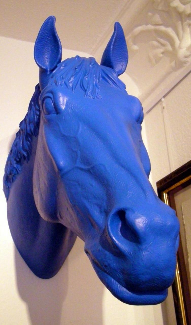 Pferdekopf - blau