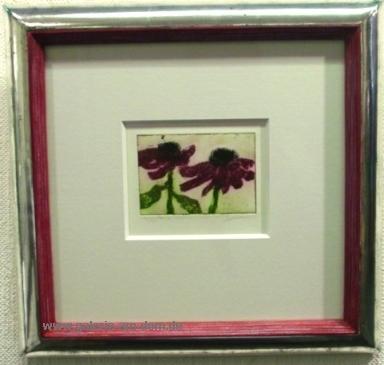 Echinacea im Vergolderrahmen