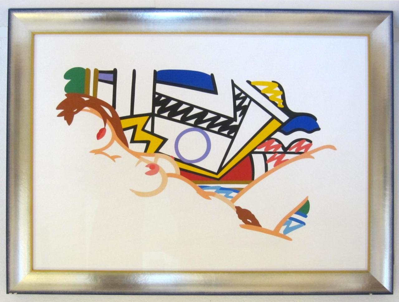 Monica with Lichtenstein