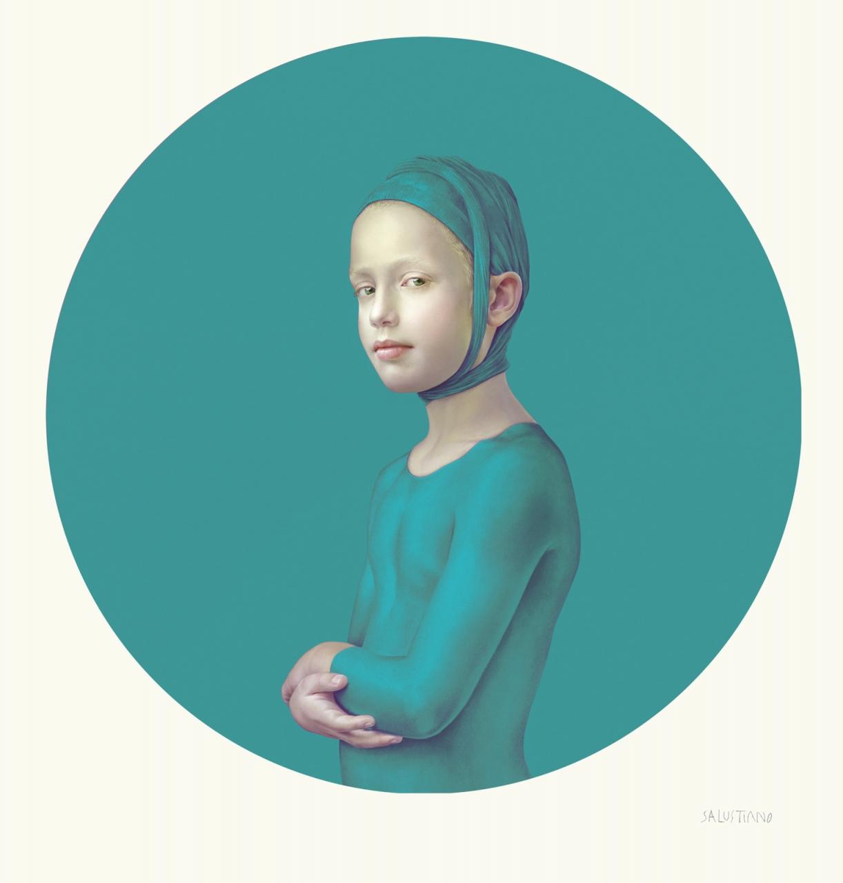 Roses June Stillness (türkis), 2018