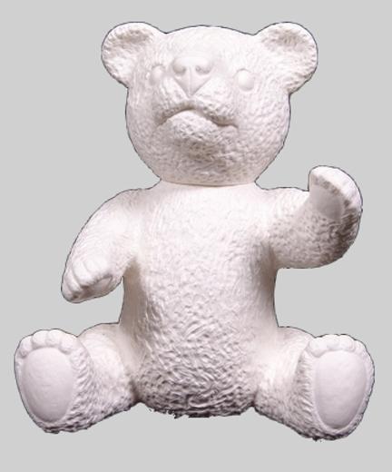Teddy - weiß, signiert