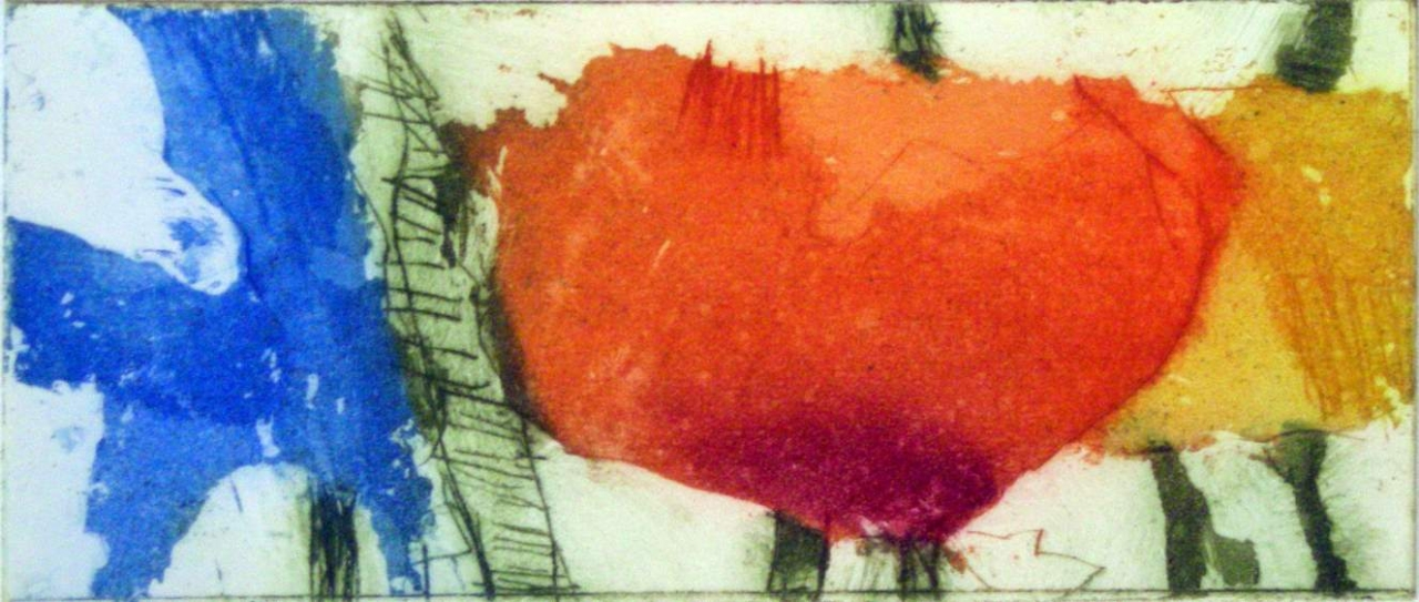 Iris und Mohn (rot, gelb)