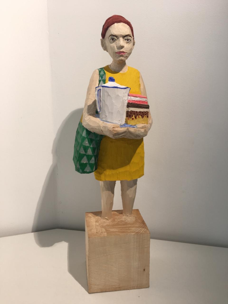 Edekafrau (1334) mit Kaffeekanne und Kuchen