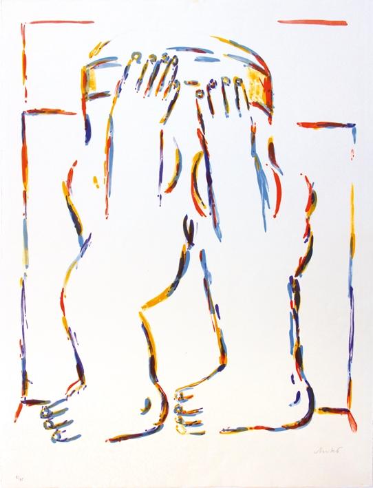 Figur mit erhobenen Armen