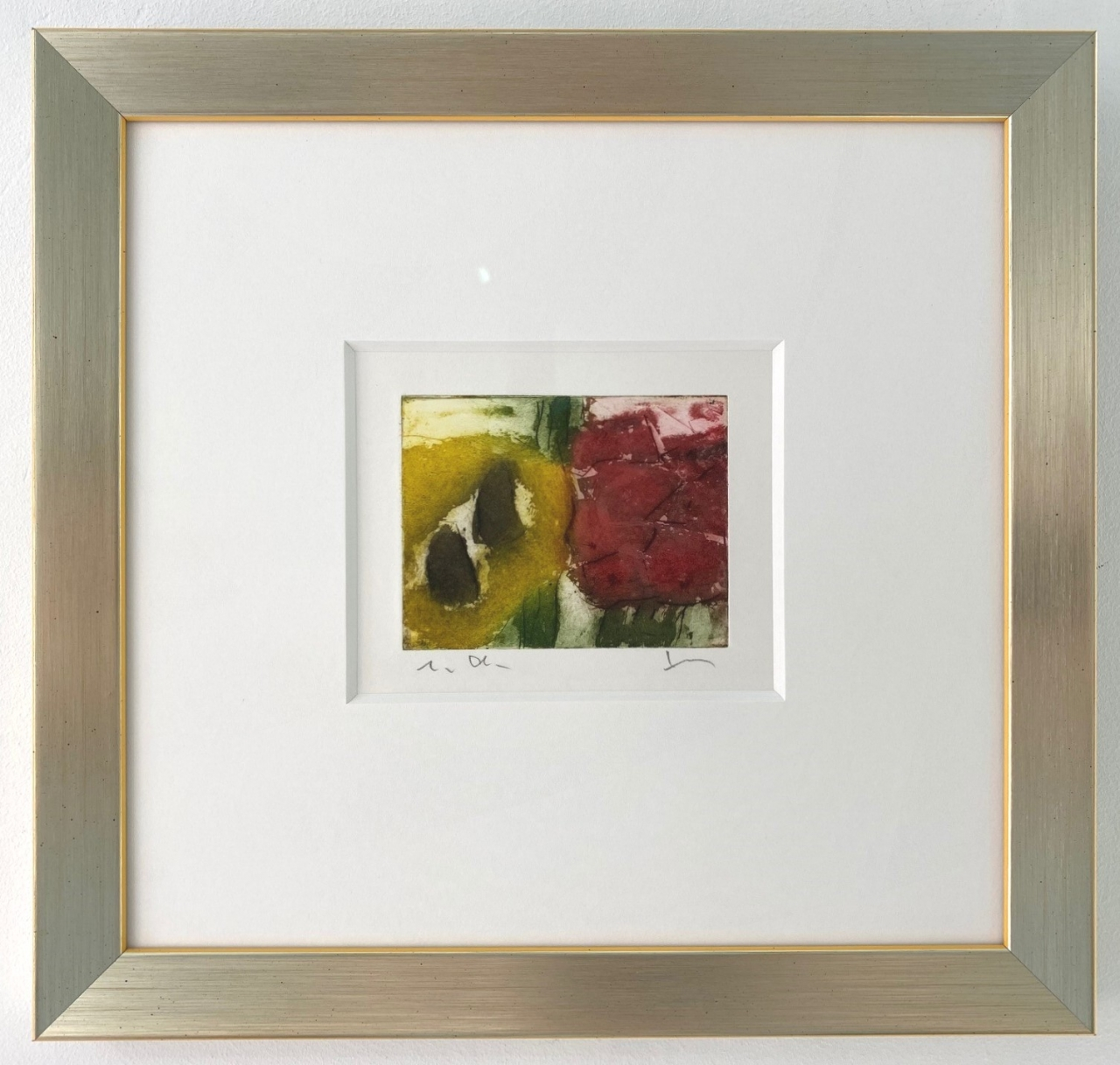 Rudbeckia, gerahmt (Silber-gelb)