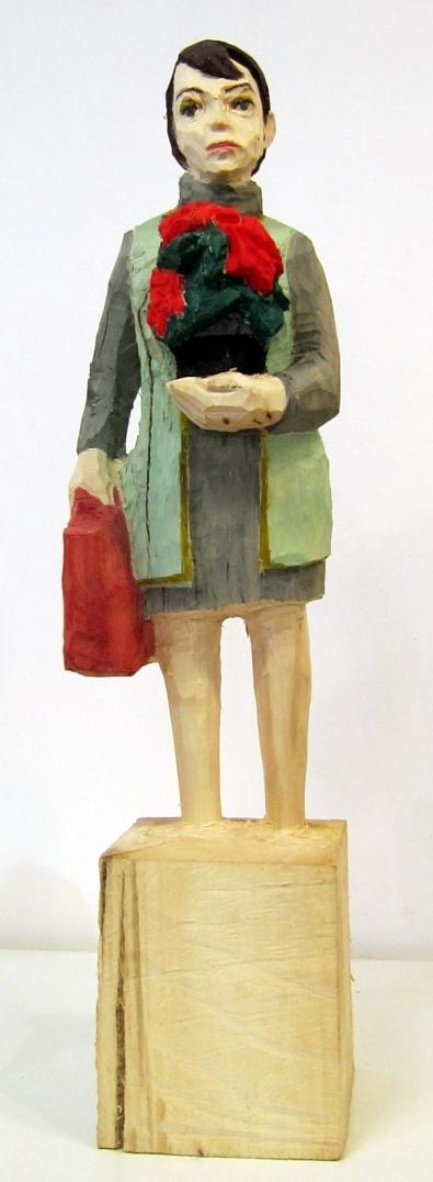 Edekafrau (875) mit Weihnachtsstern