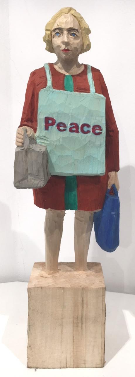 Edekafrau (1232) Peace (graue und blaue Tasche)