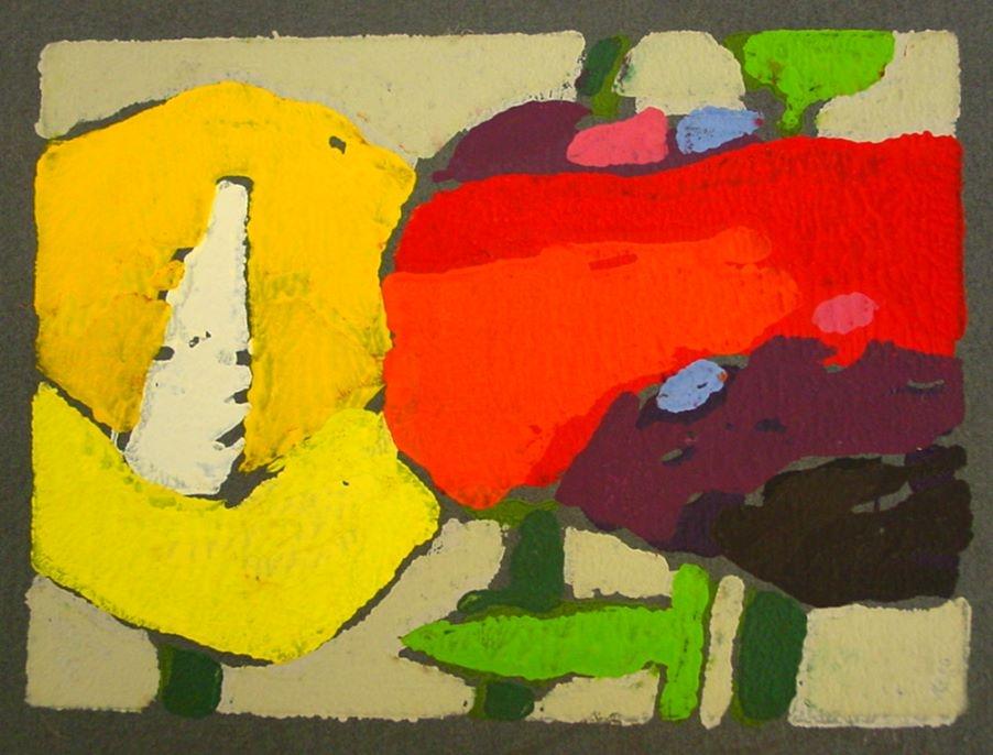 Mohn gelb/rot