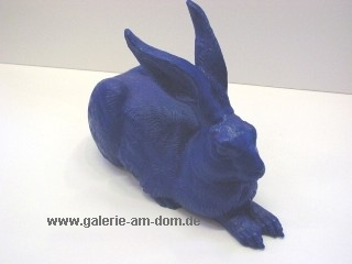 Dürers Hase - blau, signiert