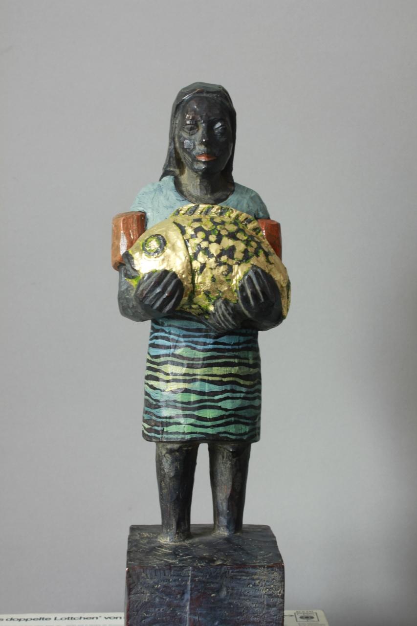 Edeka-Bronze mit Fisch EA 1/3