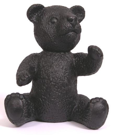 Teddy - schwarz, signiert