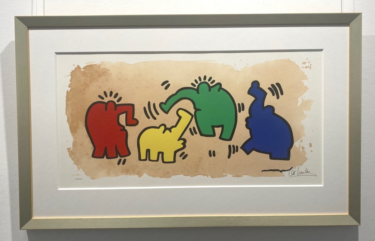 Hommage an Keith Haring, gerahmt