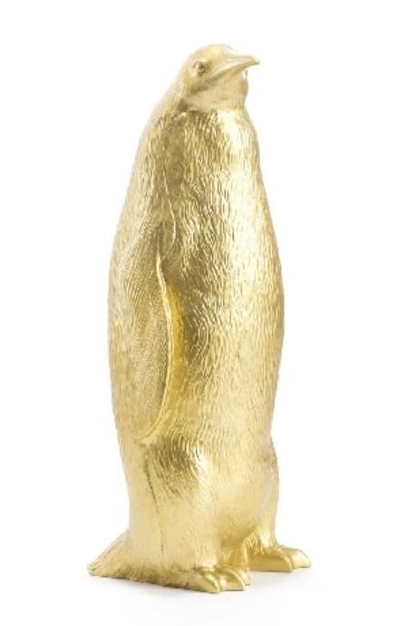 Pinguin gebeugt - gold