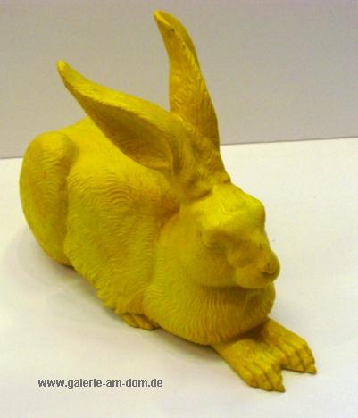 Dürers Hase - gelb, signiert