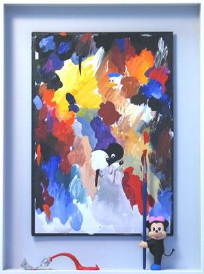 Homage to Walt Disney - Minnie is Painting