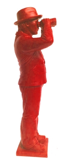 Weltanschauungsmodell IV-Anmerkung zu Beuys - rot, signiert