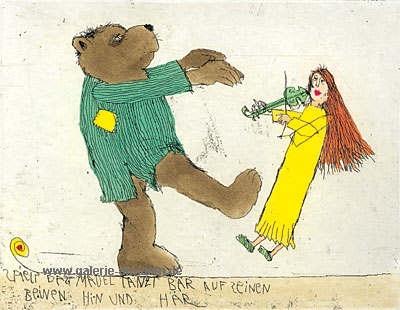 Spielt das Mädchen, tanzt der Bär