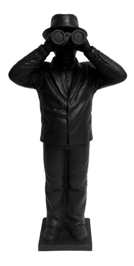 Weltanschauungsmodell IV-Anmerkung zu Beuys - schwarz, signiert