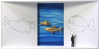 Homage to Paul Klee - Klee zeichnet einen Fisch