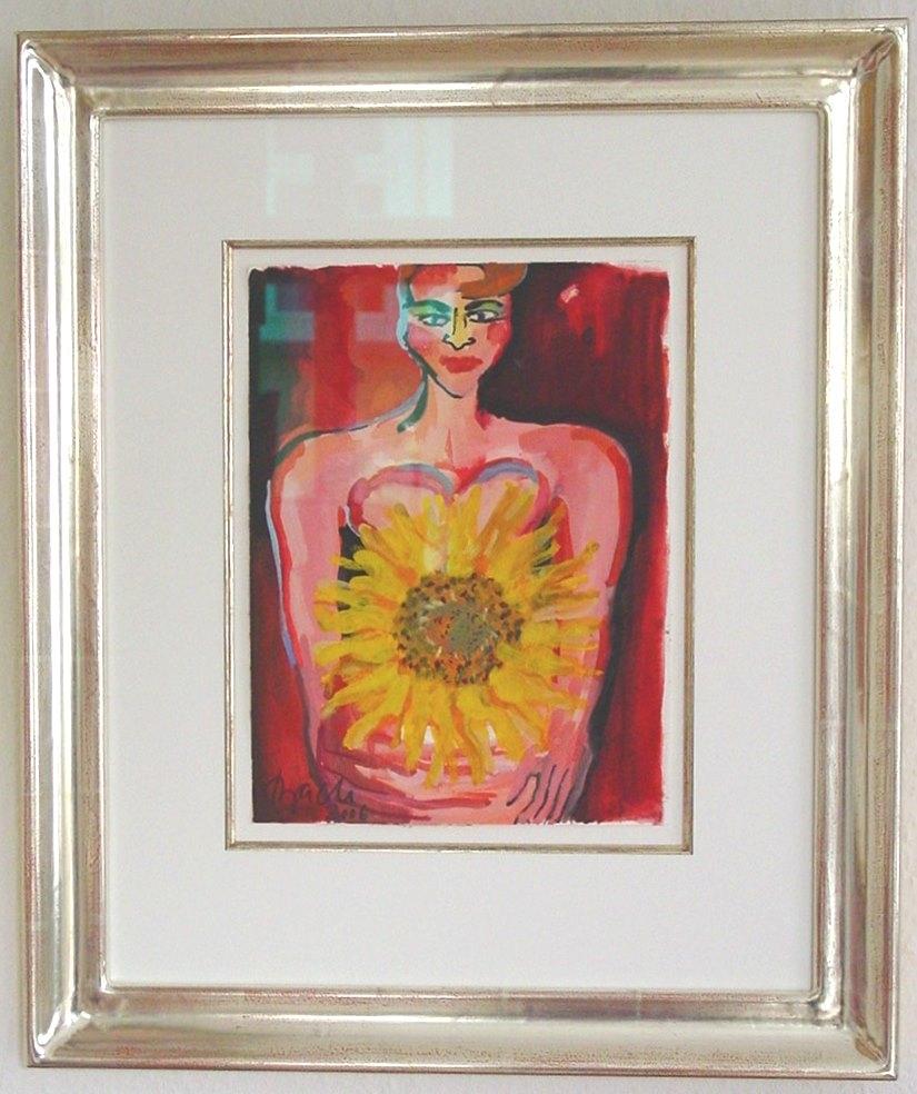 o.T. (Frau mit Sonnenblume)