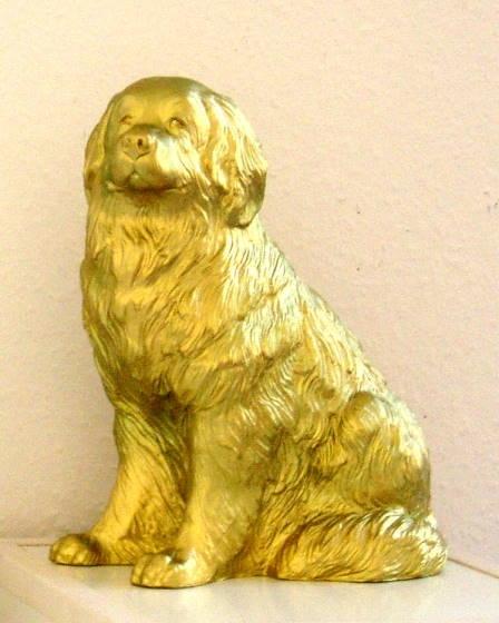 Wagner Hund klein Gold, handsigniert